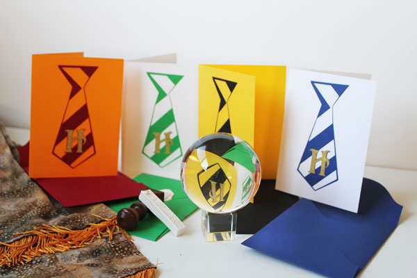 DIY Harry Potter Hogwarts House Cards