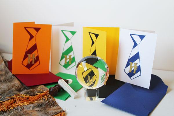 DIY Harry Potter Hogwarts House Cards