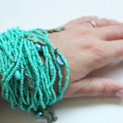 Finished Ocean Inspired Simple DIY Bracelet