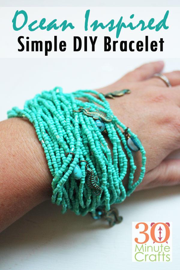 Ocean Inspired Simple DIY Bracelet