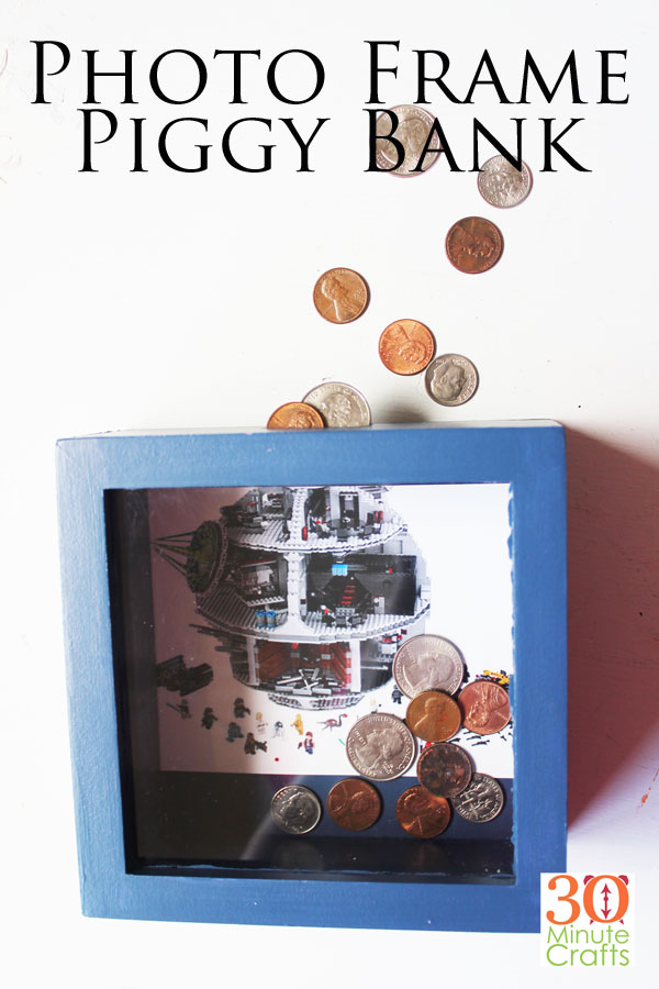 Photo Frame Piggy Bank - Visualize what you are saving for with a photo right on the back of the piggy bank. Change out the photo when you start saving for your next big purchase!