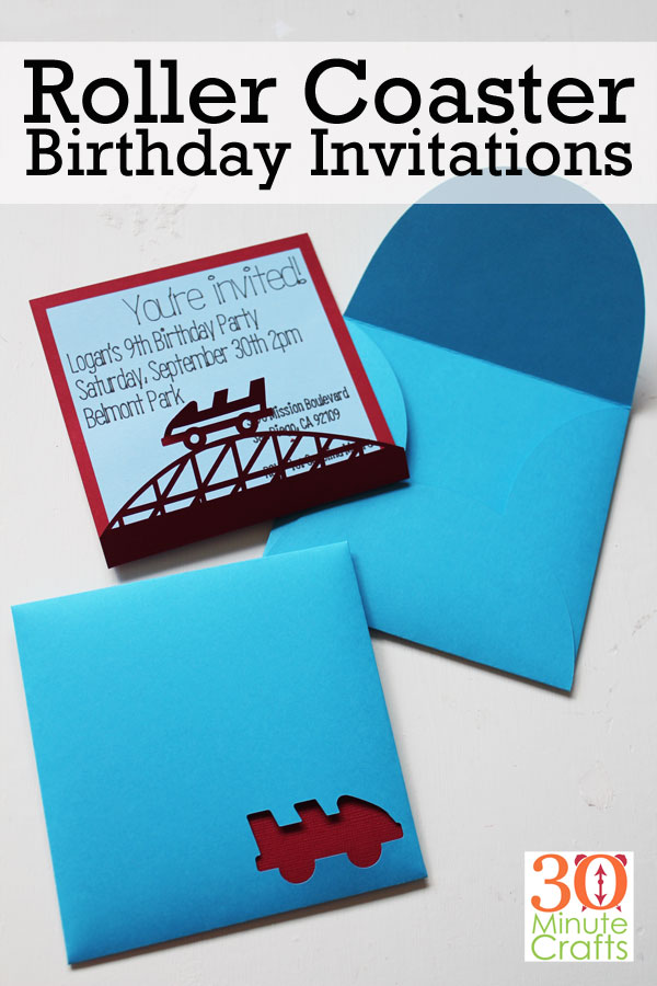 Roller Coaster Birthday Invitations