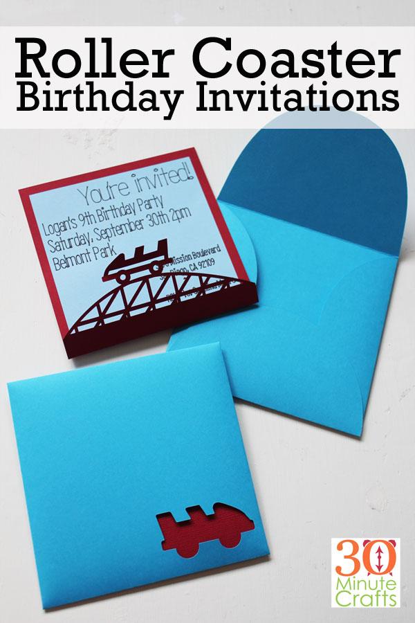 Roller Coaster Birthday Invitations