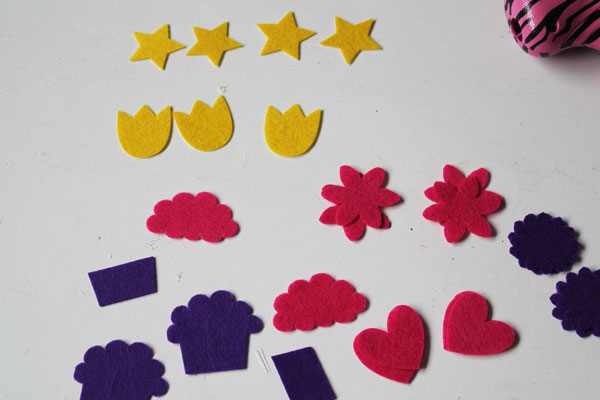cut out felt pieces