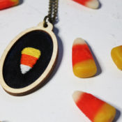 Stitch a super sweet Candy Corn necklace