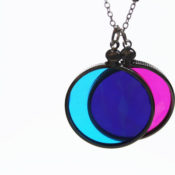 finished color necklace