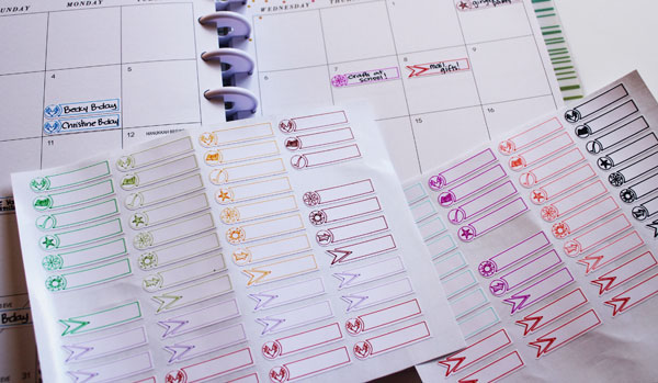 Create your own planner stickers by having your Cricut draw them!