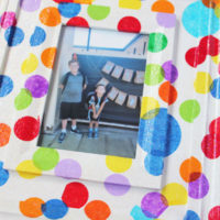 finished poka dot frame - a fun way to celebrate special occasions