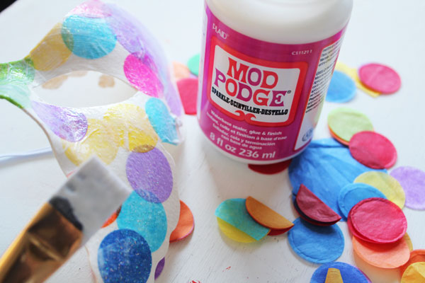paint on glitter Mod Podge