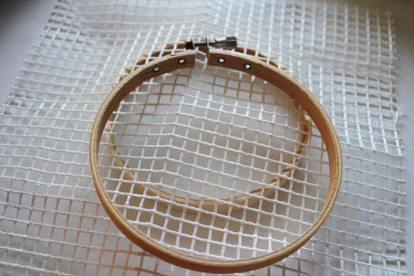 place web in hoop
