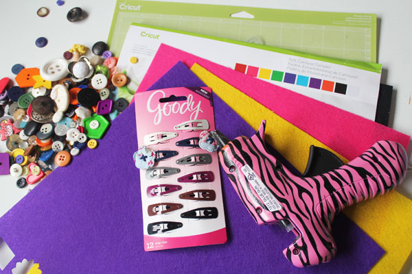 supplies for felt hair clip