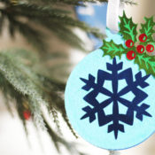 Finished Felt and Foil Holiday Ornament