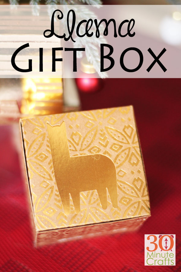 DIY Llama Gift Boxes - the perfect way to give a llama holiday gift!