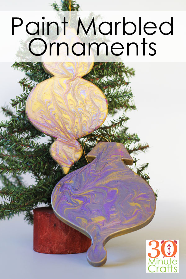 Make Paint Marbled Ornaments