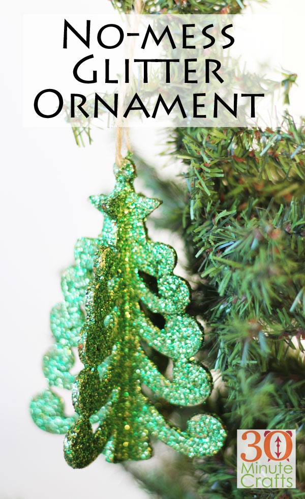No Mess Glitter Ornaments