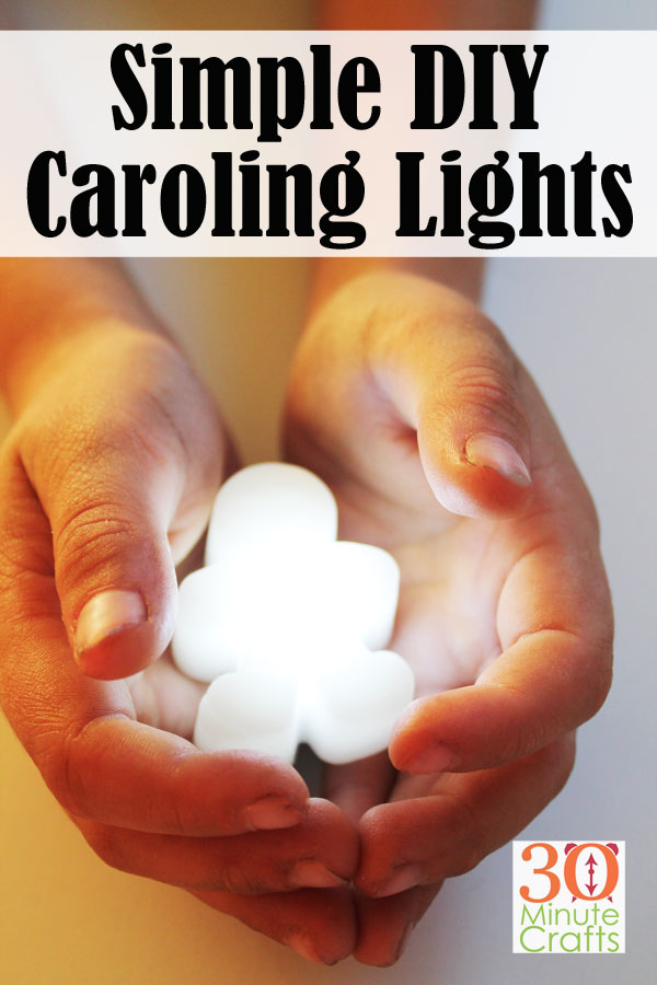 Simple DIY Caroling Lights - a fun alternative to candles or tealights during the holidays.