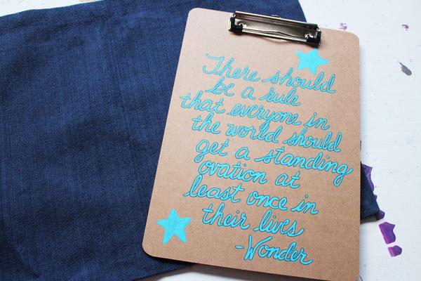 WONDER quote clipboard