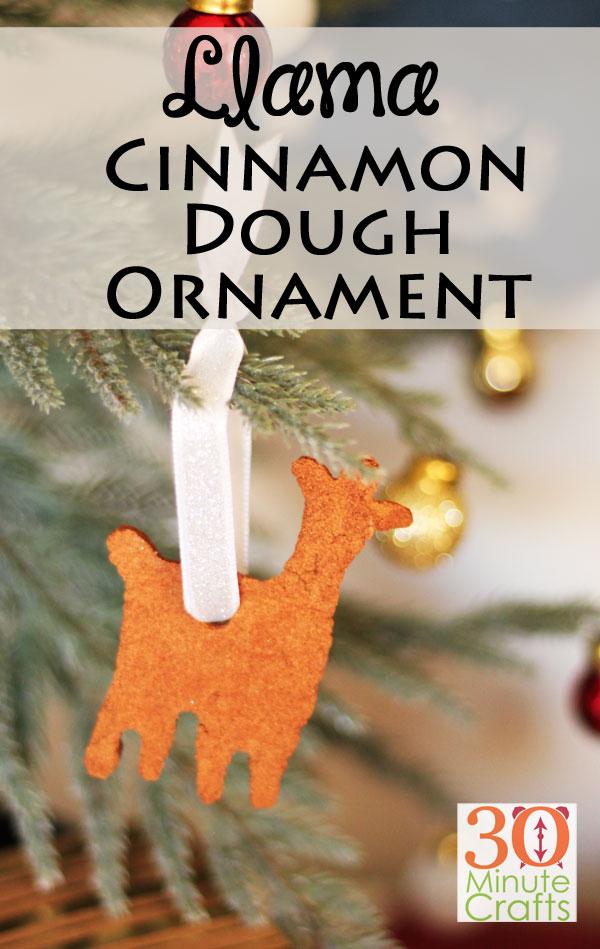 Llama Cinnamon Dough Ornament
