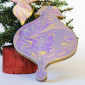 simple paint marbled ornament DIY