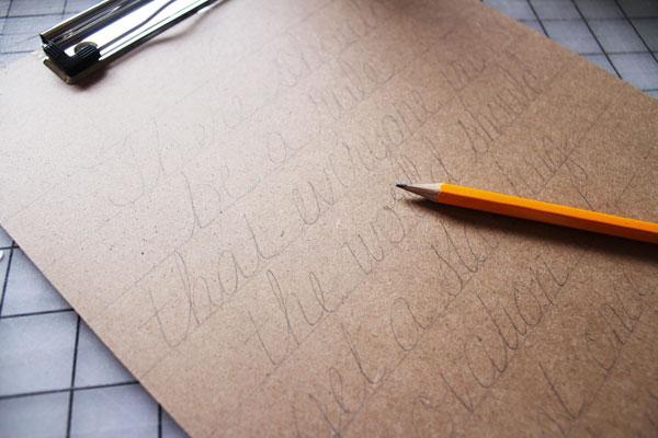 write lightly