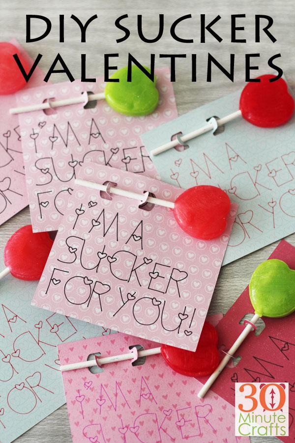 DIY Sucker Valentines