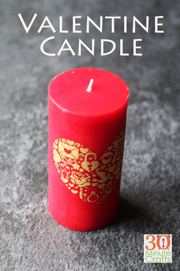 DIY Valentine's Day Candle - 30 Minute Crafts .com