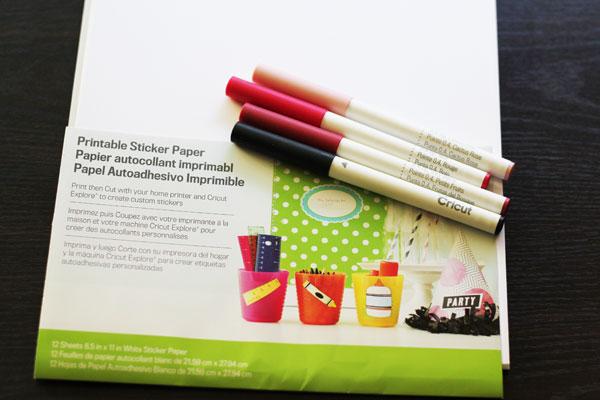 cricut sticker paper