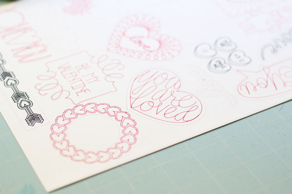 drawn stickers