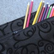 felt zippered pouch