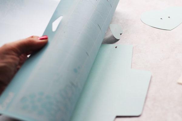 peel mat from cardstock