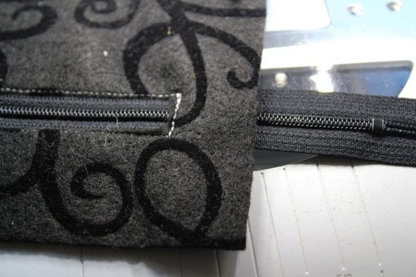 trim the extra zipper