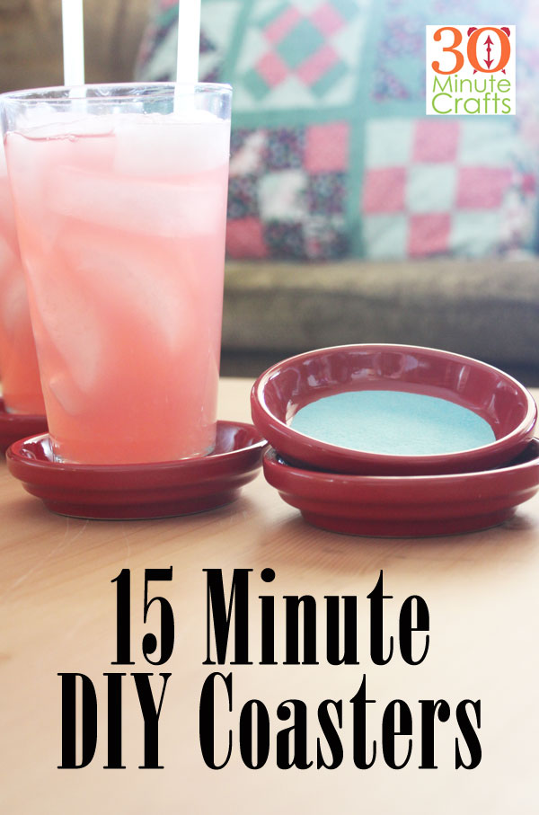 15 Minute Coasters - made using two supplies and two tools!