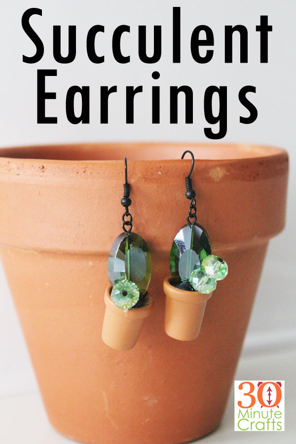 DIY Succulent Earrings