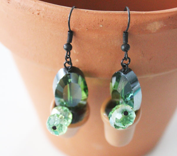 Clay Pot Succulent Earrings DIY and easy to make! Full instructions