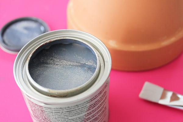 open the glitter paint