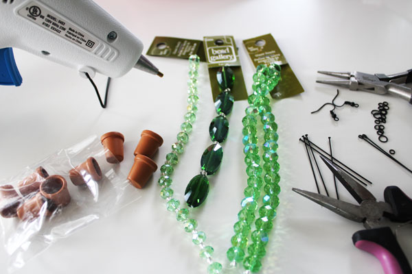 succulent earring supplies