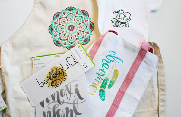 Adding the Ready Made Cricut Iron On Designs