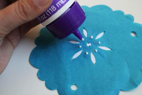 dots of glue