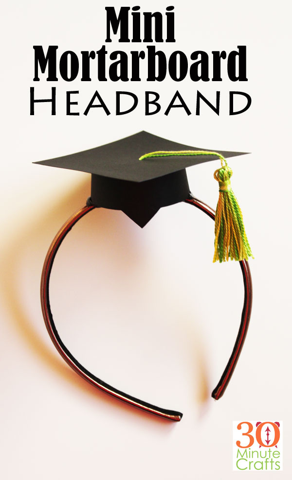 Mini Mortarboard Headband - Graduation Cap Headband