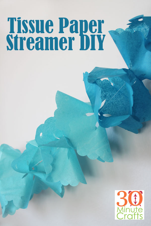 Tissue Paper Streamer DIY - so fun to make, this light and colorful tissue paper streamer