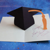 finished pop up graduation card