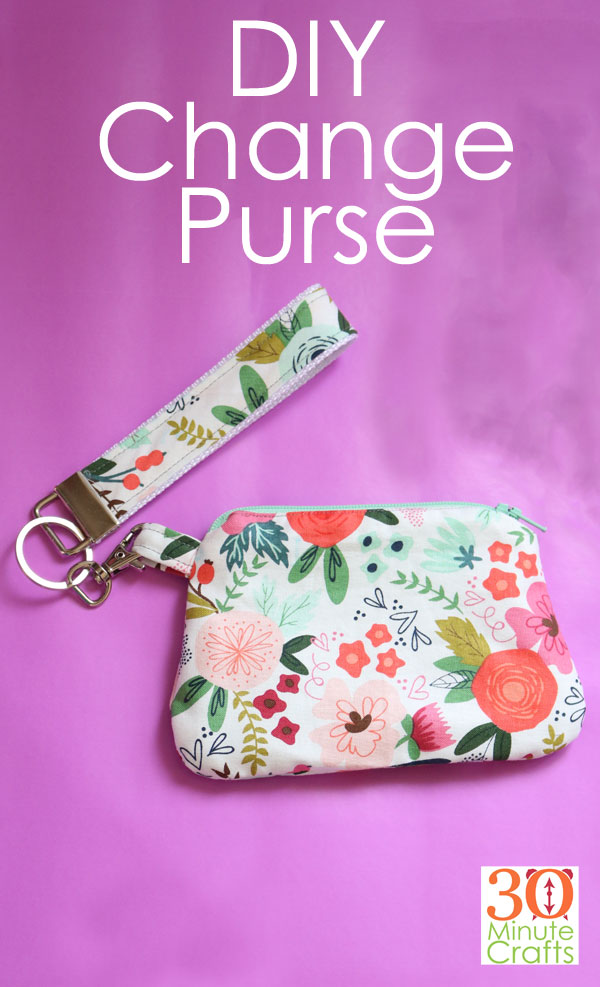 DIY Change Purse - Make this Simplicity Change Purse using your Cricut Maker! The Cricut does the cutting, and you can do the sewing!