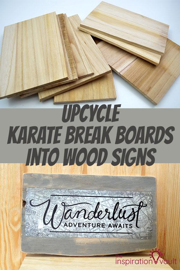 Upcycle Karate Break Boards Into Wood Signs Diy Craft Tutorial 30