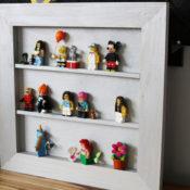 Make your own DIY Lego Minifigure Shelf
