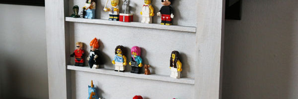 Make your own DIY Lego Minifigure Shelf