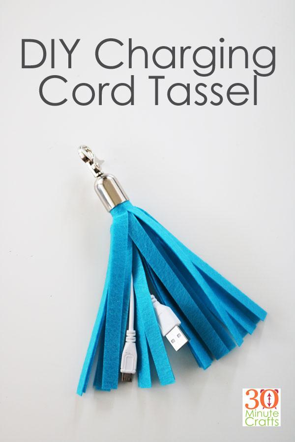 USB Charging Cord Tassel DIY