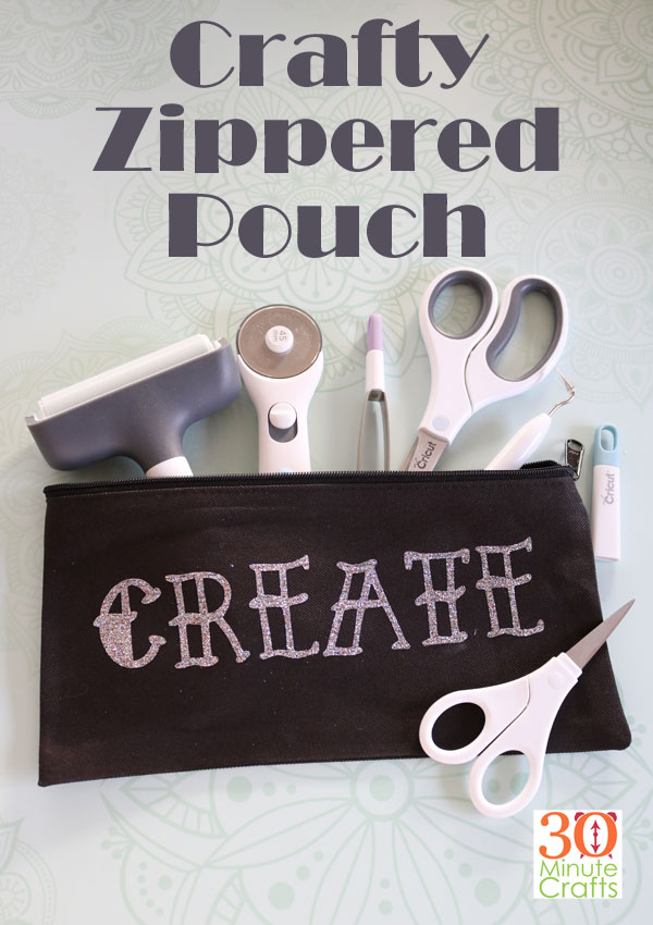 Crafty Zippered Puch - such an easy DIY!