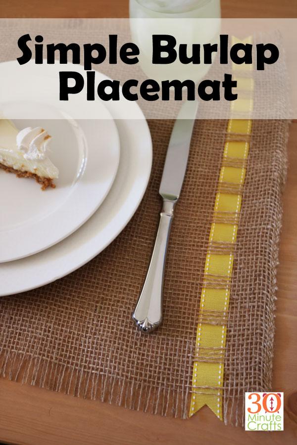 Simple Burlap Placemat
