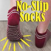 DIY No-slip socks that you can make using hot glue!