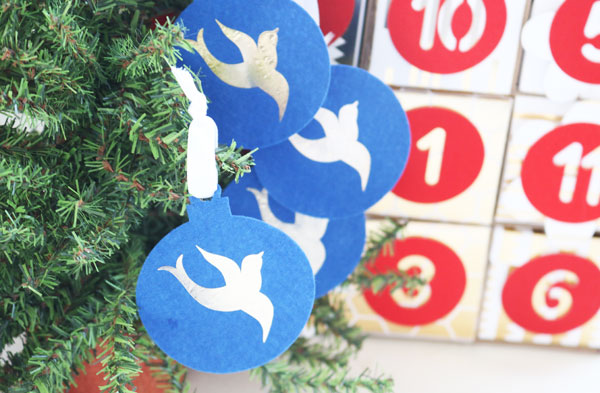12 Days of Christmas Four Calling Birds ornaments
